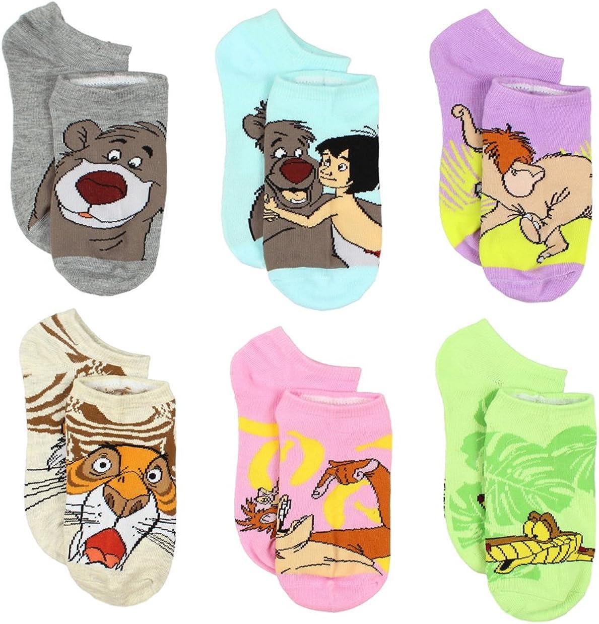 The Jungle Book 6 pack Socks (Little Kid/Big Kid/Teen/Adult)