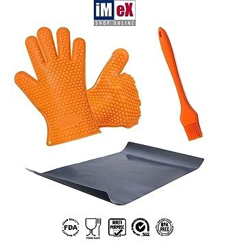Imex tienda en línea salvamanteles y cinco dedos guantes de barbacoa pincel y grill Mat mejor