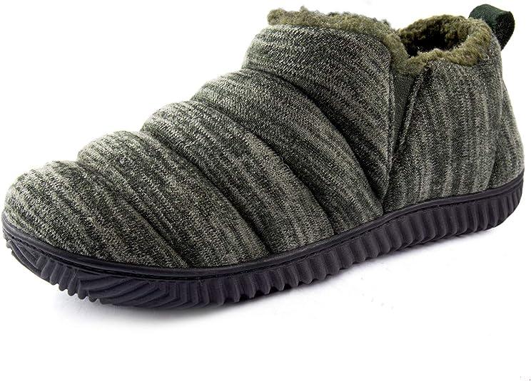Men's Cozy Memory Foam Slippers with Plush Fleece Liner