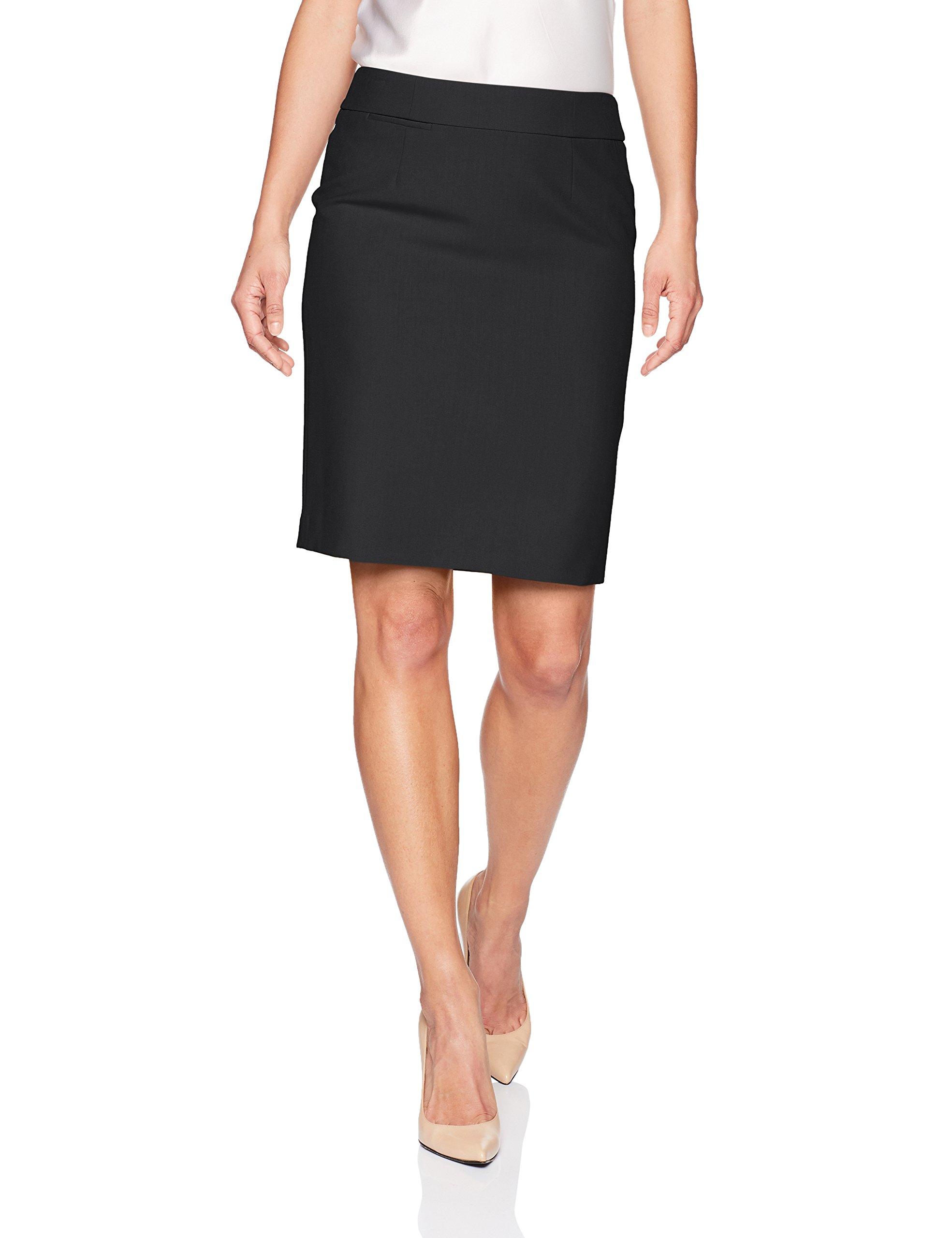 Calvin Klein Women's Petite Lux Straight Skirt, Navy, 12P