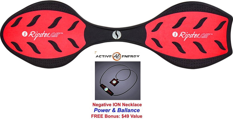 レッドレーザーリップスターエアキャスター/ウェーブボード+ボーナス:アクティブエネルギーパワーバランスネックレス