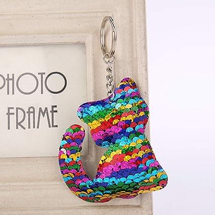 Amazon.com : Chaveros Cute Keychain Glitter Pompom Sequins ...