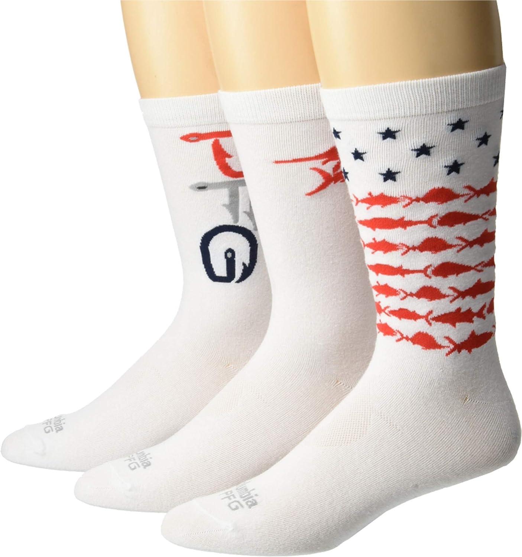 Columbia PFG Americana Crew Socks 3-Pair