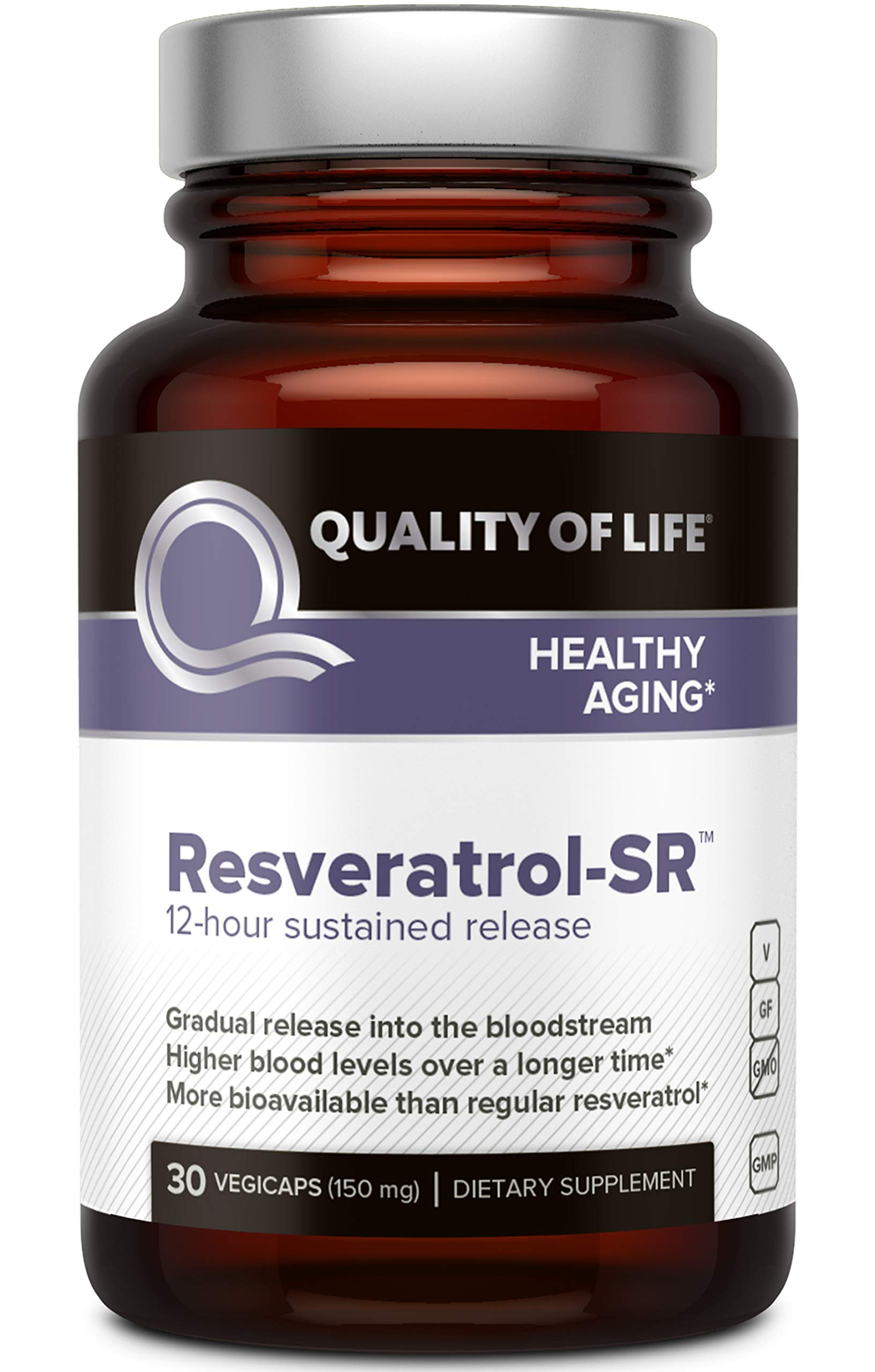 Quality of Life - Resveratrol SR - 30 Vegicaps by Quality of Life