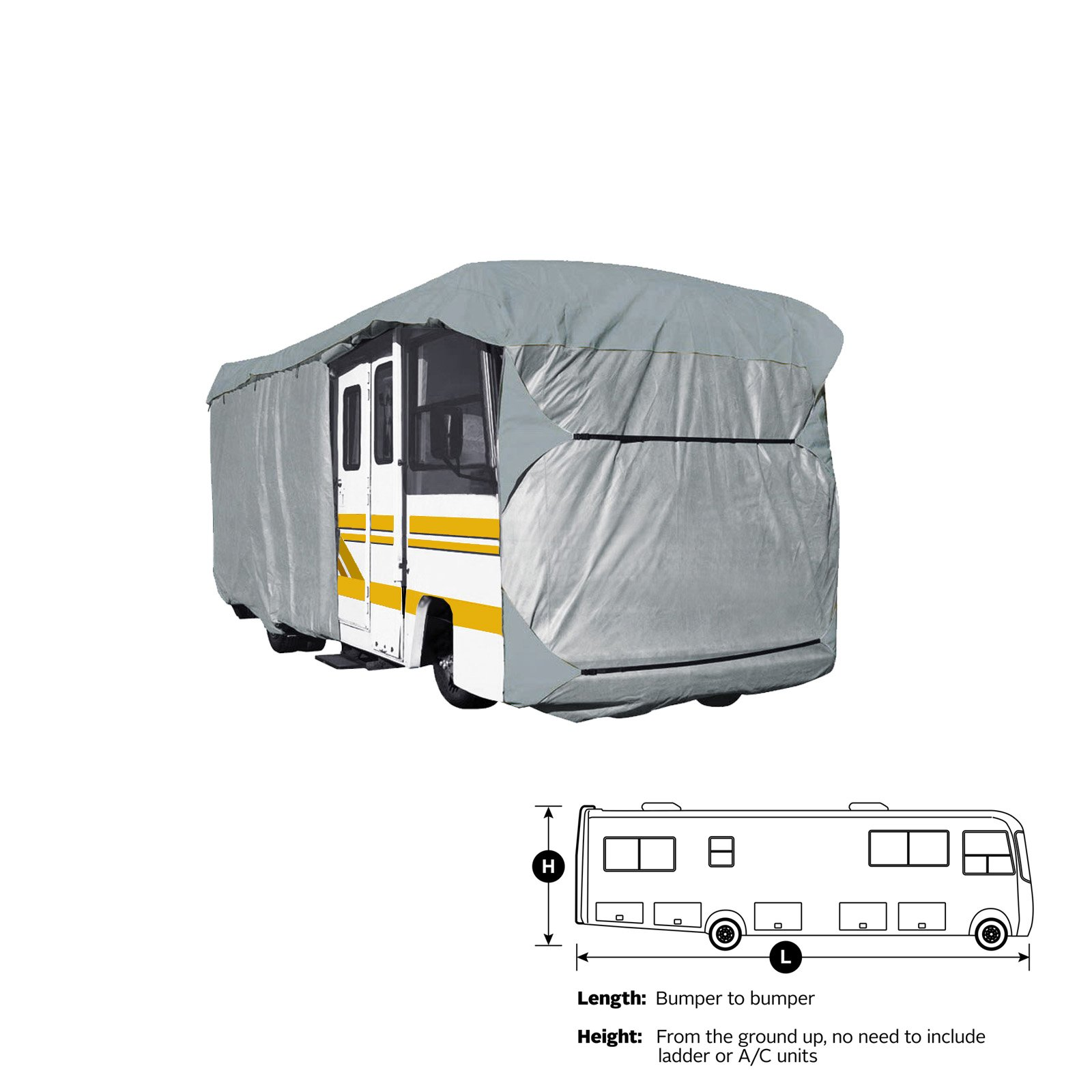 SavvyCraft Heavy Duty Class A RV Motorhome Cover, Fits 34' to 36'L Extra Tall 140'' H by SavvyCraft