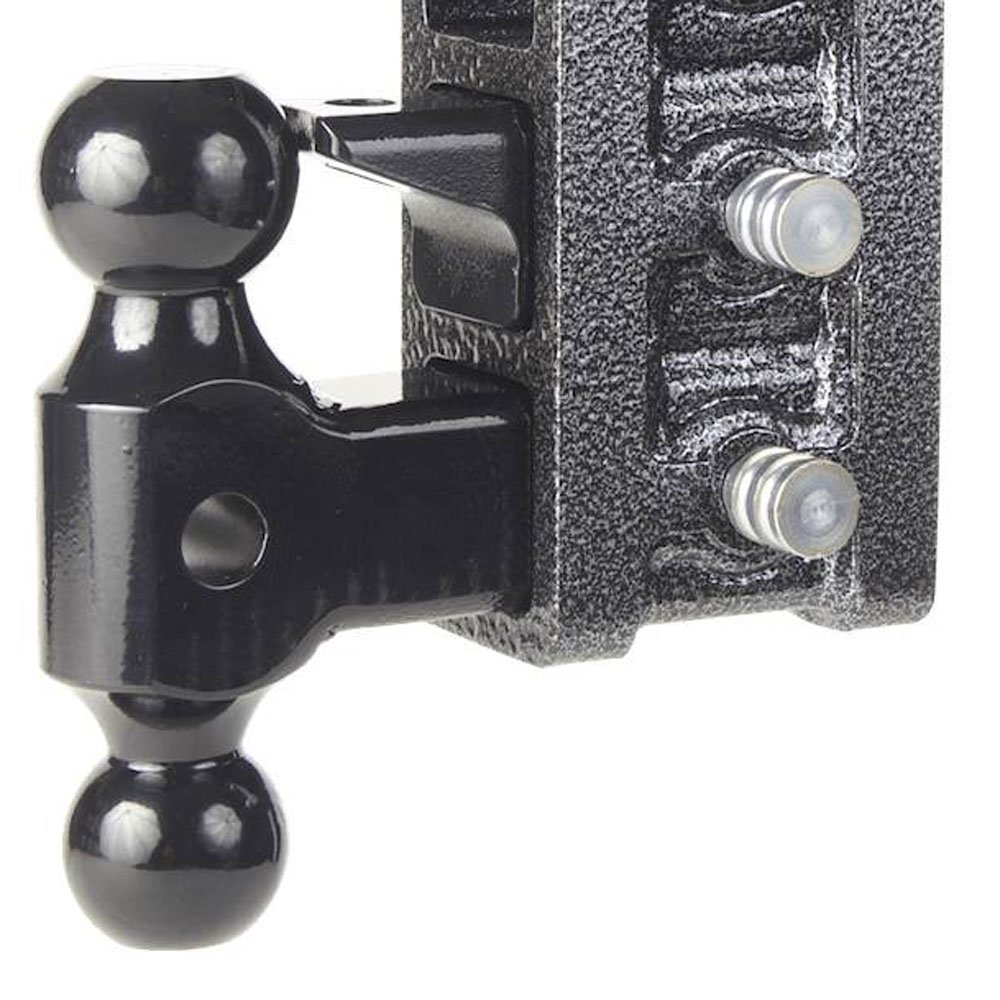 Black Drop Hitch by Geny 525 16,000 Lb 10 Drop Raise Hitch 2 Receiver Hitch Dual-ball Pintle Combo Hitch 16 x 12 x 4 inches
