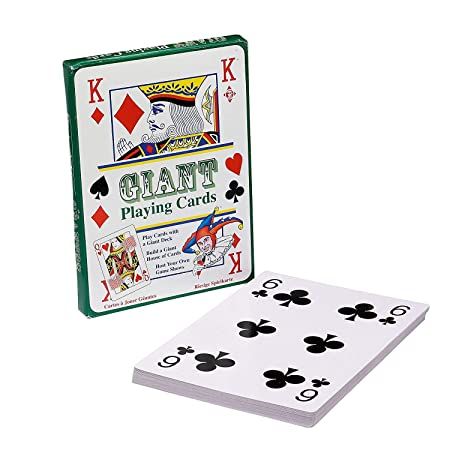 Large Plastic Coated Playing Cards