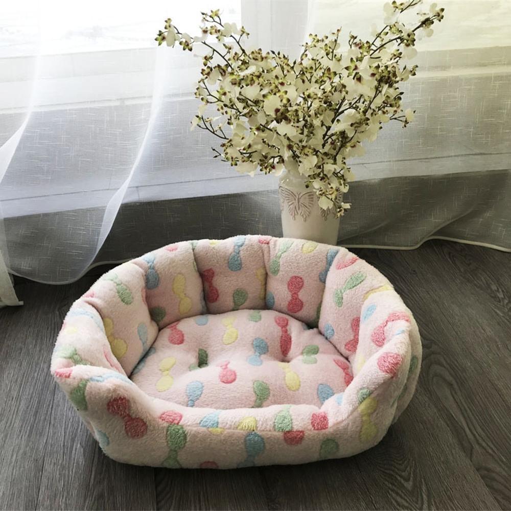 C 5040cm C 5040cm WUTOLUO Pet Bolster Dog Bed Comfort Super Soft kennel pet sofa bed Pet Mat (color   C, Size   50  40cm)