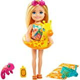 Barbie and Chelsea The Lost Birthday Playset with Chelsea Doll (Blonde, 6-in), Jungle Pet, Floatie and Accessories, Gift for