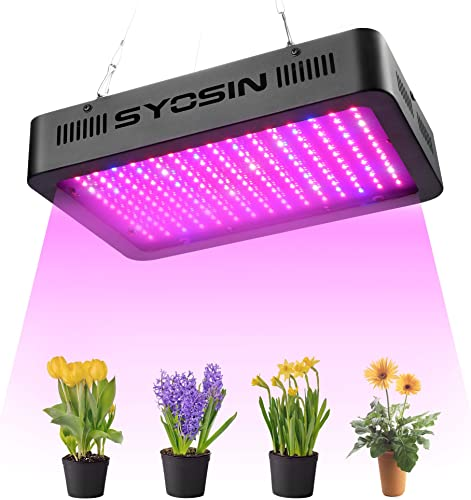 Grow Light, SYOSIN LED Grow Lamps,1000w Full Spectrum Plant Growing Light for Greenhouse Hydroponic and Indoor Veg Plant Flower Growing-Black