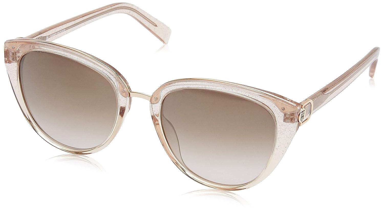 47aa3b15a41f6 Tommy Hilfiger Mirrored Cat Eye Women s Sunglasses - (Tommy Hilfiger 9712 I  L Brn Gld C5 54 S