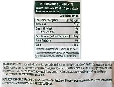 Amazon.com : Tang Naranja and Mango Naranjada Drink Mix (Pack of 18) with Tesadorz Resealable Bags : Grocery & Gourmet Food
