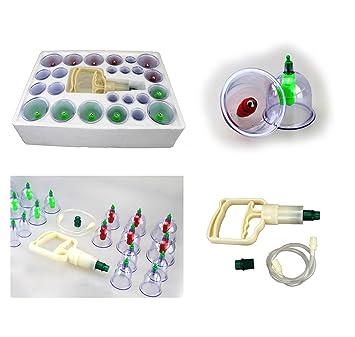 HQ Schröpfen Set 16 HOCHWERTIGE Schröpfgläser Vakuum Massage Cupping ABC Pumpe