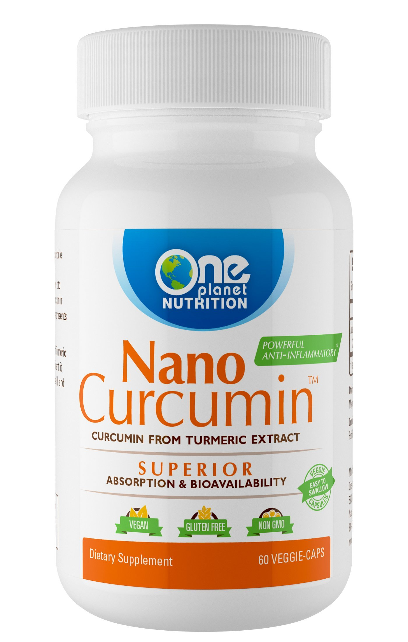 Nano Curcumin, Nano Particle Sized, Completely Absorbs, High Bioavailability, Anti-Inflammatory, Antioxidant, Better Health. 2 Months Supply
