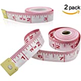 MZD8391 2Pack Body Measuring Ruler Sewing Tailor Tape Measure Soft Flexible - 79 inch/200cm