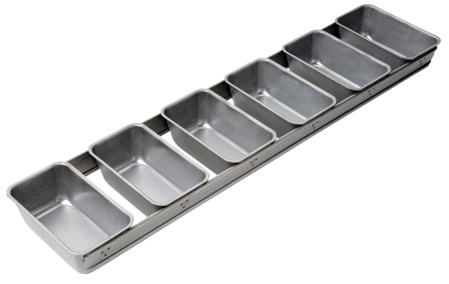 Focus Foodservice Commercial Bakeware 6 Strap 5-5/8 by 3-1/8-Inch Bread Pan Set