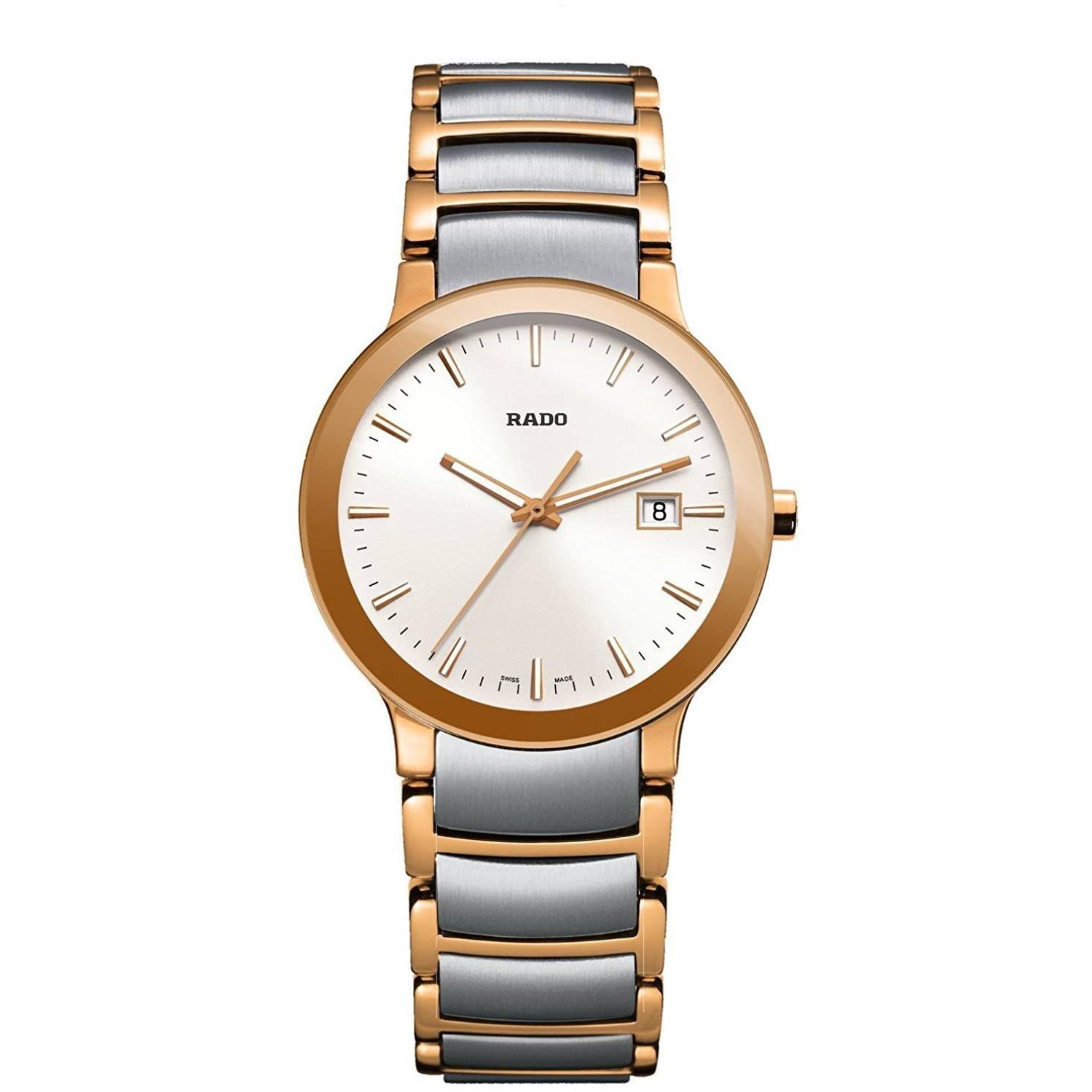 RADO Women s Centrix – R30555103 Two-Tone Silver Rose Gold One Size