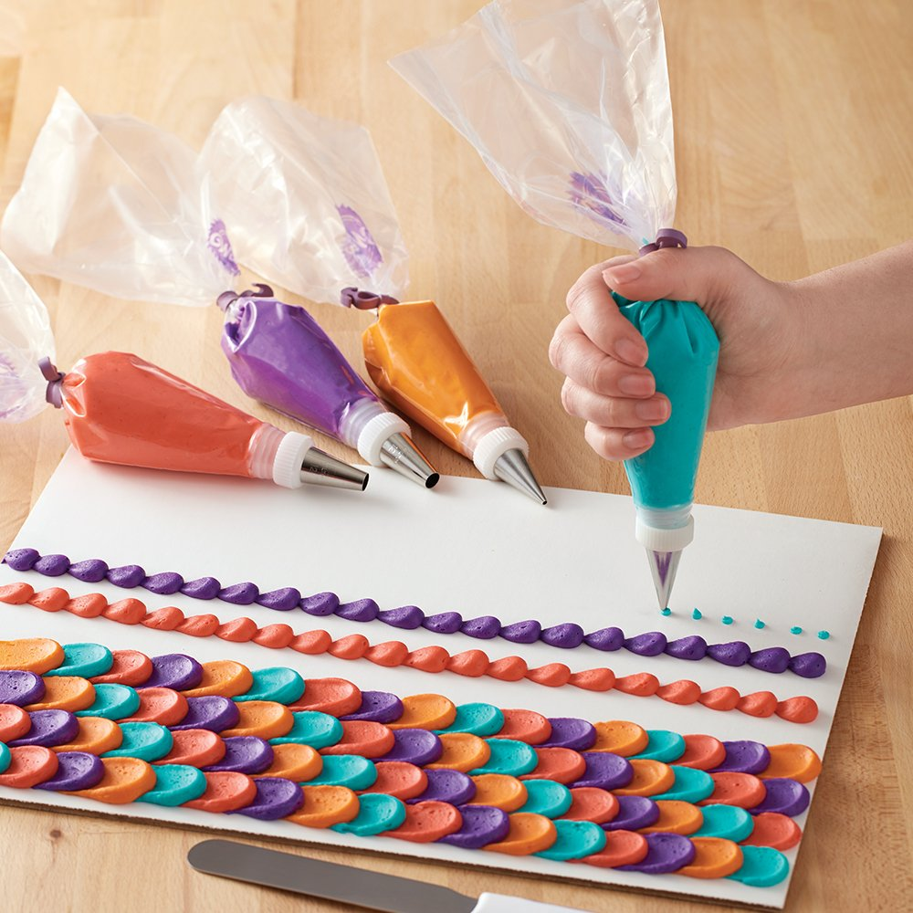 Wilton Disposable Decorating Bags Set, 12-Inch and 16-Inch Disposable Decorating Bags and Icing Bag Ties by Wilton (Image #5)