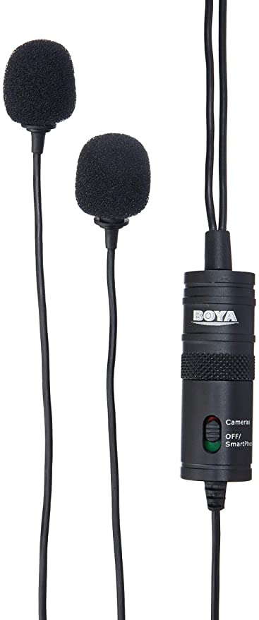 Amazoncom Boya By M1dm Dual Lavalier Universal Microphone With A