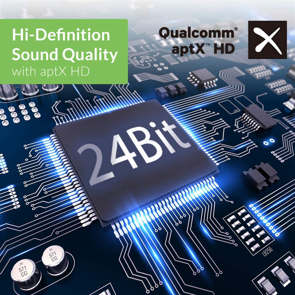 Avantree Aria Pro Bluetooth 5.0 Active Noise Cancelling Kopfh/örer aptX-LL ohne Tonverz/ögerungen f/ür TV Computer aptX-HD ANC Kopfh/örer mit Ohrmuscheln und abnehmbaren Boom-Mikro f/ür klare Anrufe PC