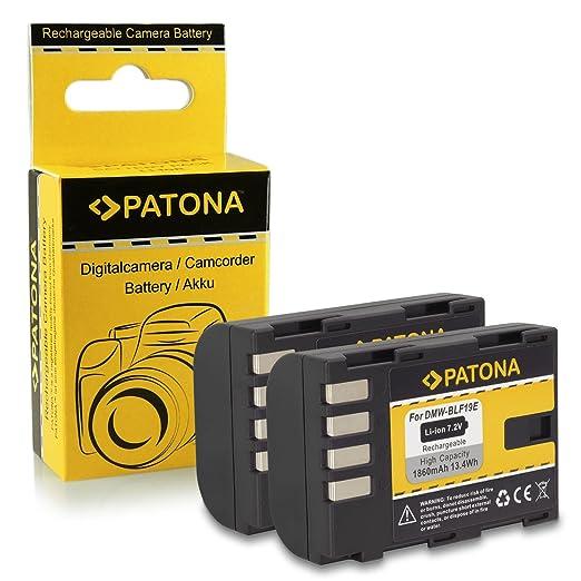 49 opinioni per 2x Batteria DMW-BLF19E BLF-19E per Panasonic Lumix DMC-GH3 | DMC-GH3A [ Li-ion;