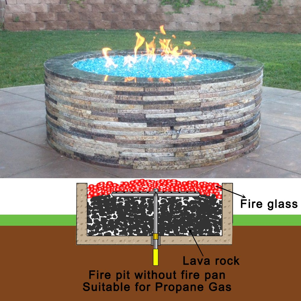 amazon com stanbroil lp propane gas fire pit stainless steel burner