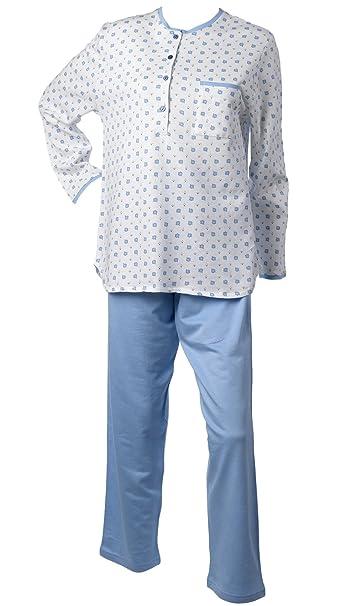 551fa081a8 Waite Ltd Ladies 100% Cotton Pyjamas Leaf   Polka Dot Top   Plain Bottoms  PJs