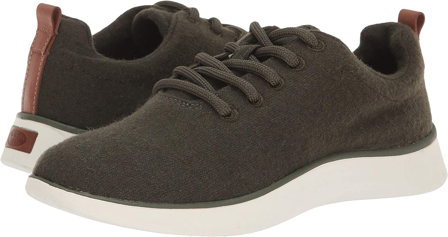 Olive Wool Fabric Dr. Scholl's Women's, Freestep Lace Up