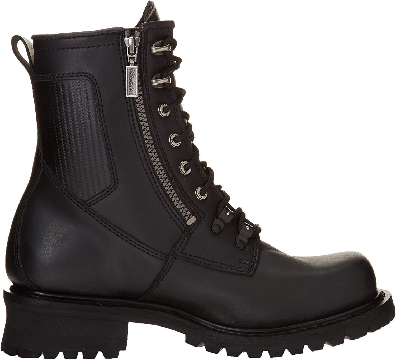 Black, Size 9.5EE Milwaukee Motorcycle Clothing Company Trooper Leather Mens Motorcycle Boots