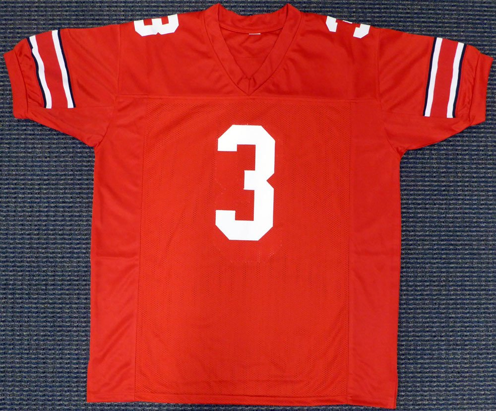 Ohio State Buckeyes Michael Thomas Autographed Red Jersey Beckett BAS
