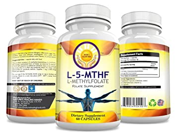 L-5MTHF 1,000 mcg (1 mg) Methylfolate Vegetarian Capsule: Excellent Source  Of