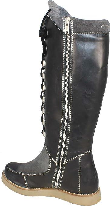 CINQUE Judie Stiefel, Gr. 37, schwarz/ grau.: Amazon.de: Schuhe &  Handtaschen