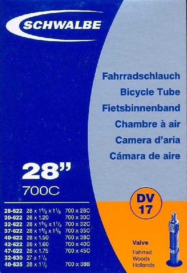 Soupape 60mm Presta Chambre à Air Vélo Schwalbe 28-47//622 SV17-60