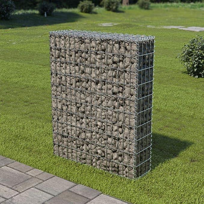 Nishore Gabion Jardini/ère 330x30x50 cm D/écoration de Jardin 1400 kg//m/³