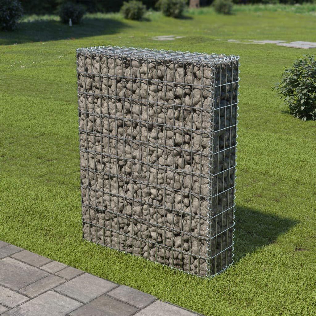 Tidyard Muro de gaviones con Cubiertas Acero galvanizado 80x20x100 ...