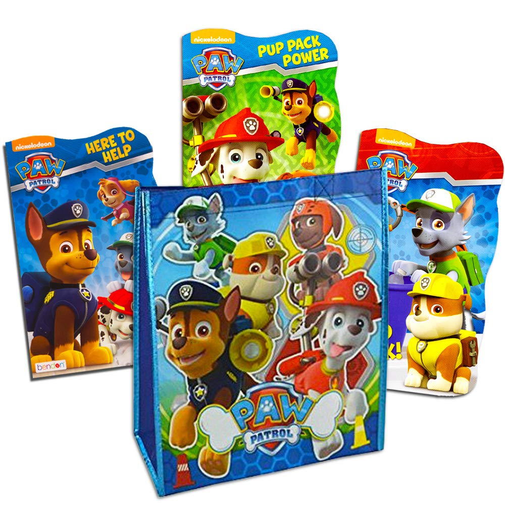 Paw Patrol Tote Bag with Paw Patrol Board Book Set