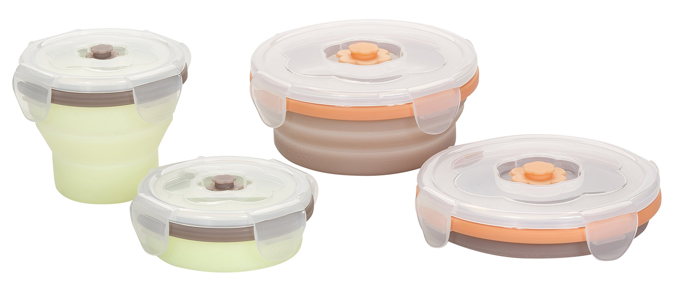 Babymoov 4 Piece Food Collapsible Storage Containers