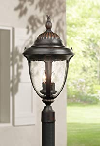 "Casa Sierra Collection 24 1/2"" High Bronze Post Mount"