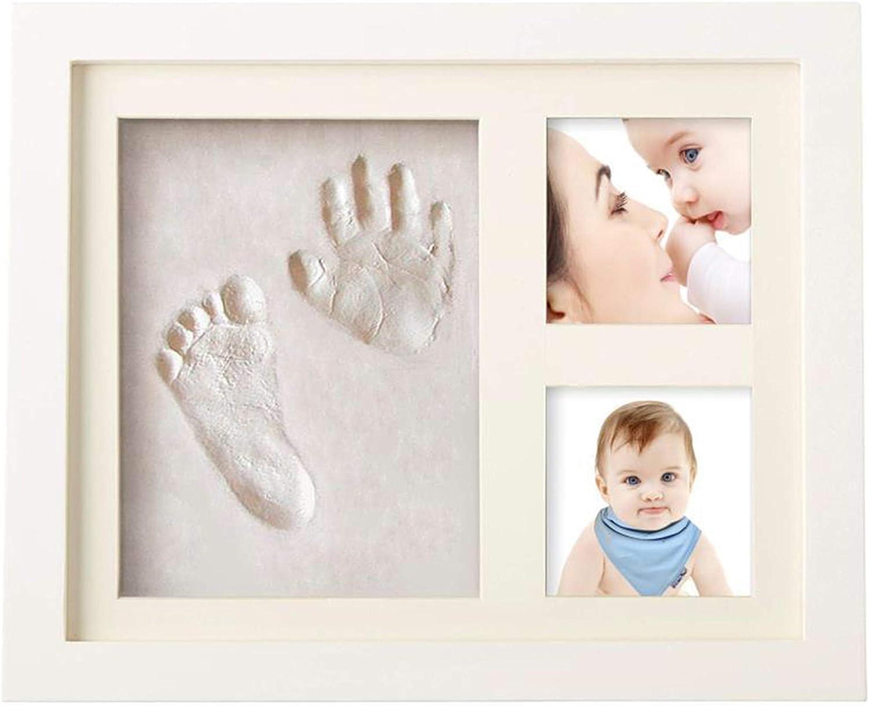 Kit De Marco 2.0 By Smile Mind | Huella De Mano | Huellas De Pies De Bebes | Ideas Para Regalar A Un Bebe Recien Nacido | Imagenes De Huellas De Pies De Bebe | Marcos Para Fotos A Mano | 4 in 1