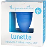 Lunette Menstrual Cup - Blue - Model 2 for Medium to Heavy Menstruation - Natural Alternative for Tampons and Sanitary Napkins