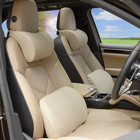 Anyshock Car Seat Headrest Pillow And Lumbar Support Travel Auto Memory Foam Head Neck