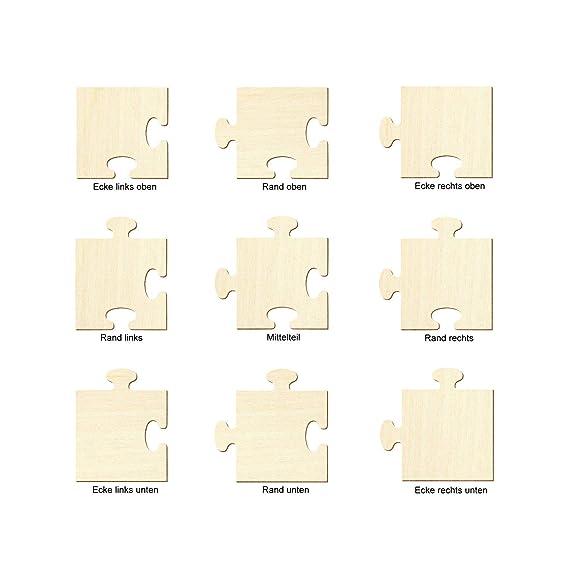 Artikel:Ecke links unten B/ütic Holz Puzzle Puzzleteile Holzpuzzle H/öhe x Breite:5 x 5cm 5x5-50x50cm Basteln Deko