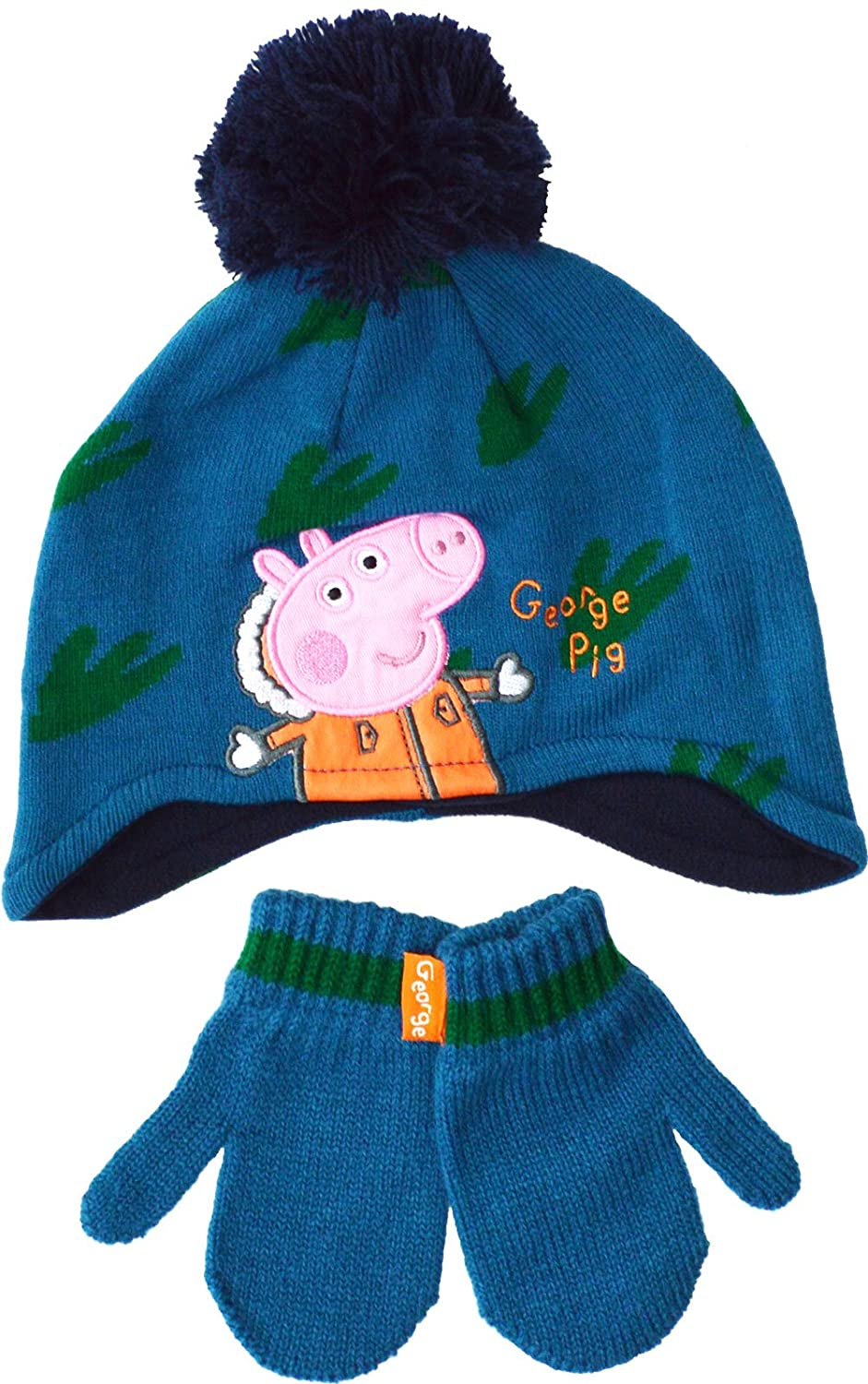 Peppa Pig Hat George Boys 2 Piece Winter Set Ages 1 to 6 Years