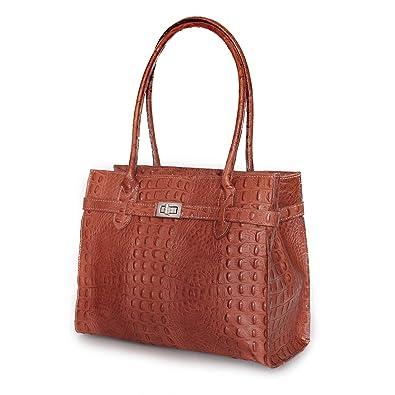 3f71823cba640 MIO Damen echt Leder Tasche Handtasche Tragetasche Henkeltasche zauberhaft  elegante Midi Kelly