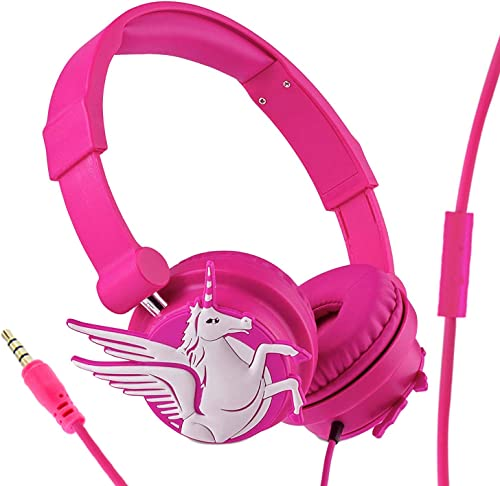 Kids Headphones – Wired Headphones for Kids Teens Adult, Adjustable Headband, Stereo Sound, Foldable with 3.5mm Jack for iPad Cellphones Computer MP3 4 Kindle Airplane School
