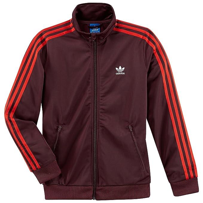 Sportiva it Amazon Marrone Rosso Adidas 164 Giacca Ragazzo B4w55Oq
