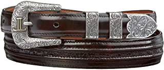 product image for Lucchese Men's Cherry Goat With Hobby Stitch Leather Belt - W2212h