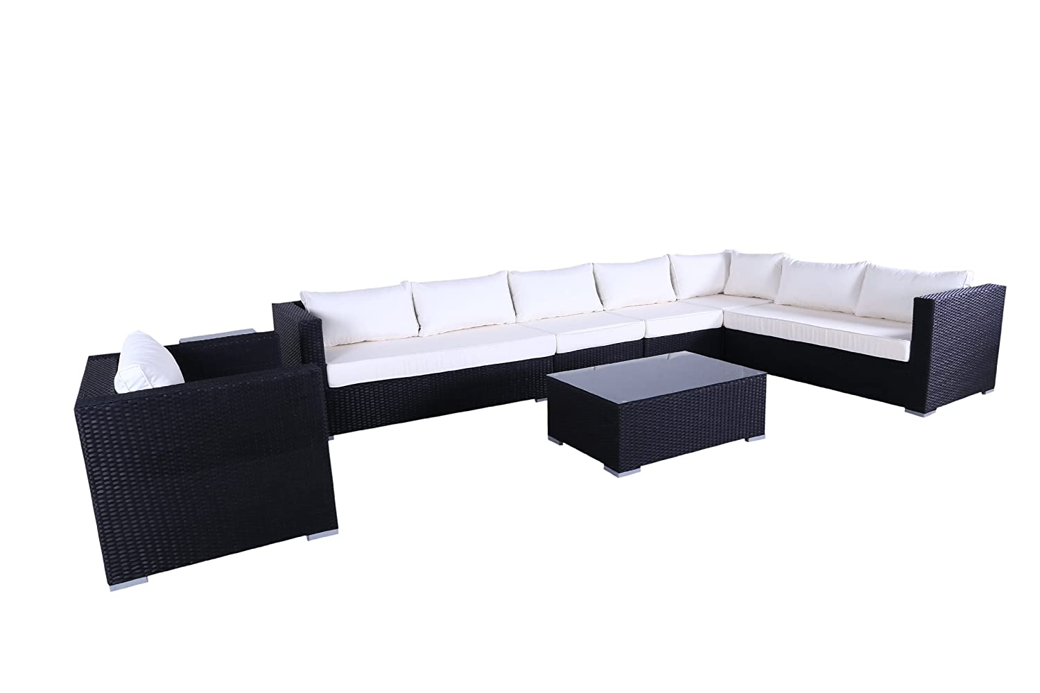 Polyrattan Luxus Lounge Ecksofa Gold Coast XL (Braun)