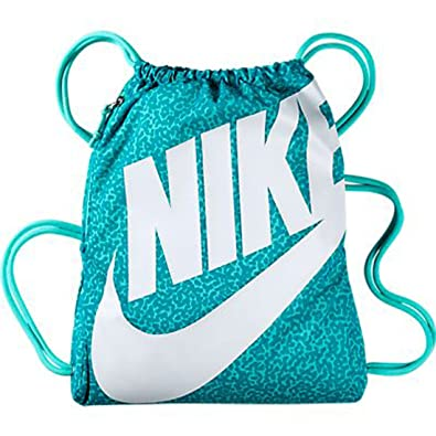 c561006e84 Amazon.com  Nike New Heritage Gymsack Bleached Turquoise Bleached ...