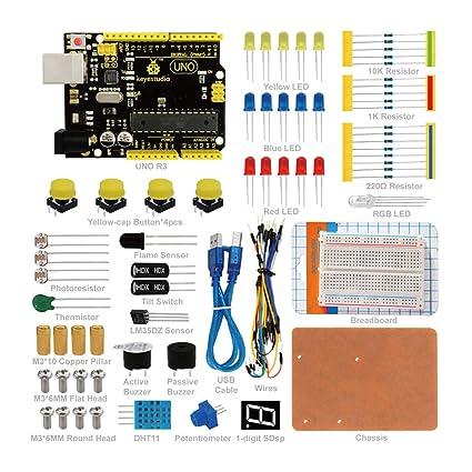 KEYESTUDIO UNO Starter Kit Más Completo y Avanzado de Arduino con Guías Tutorial UNO R3 Board